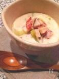 ベーコンとエリンギ、セロリのクリームスープ