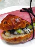 セロリとブルーチーズの胡桃パンサンド
