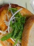 鶏のササミの梅肉サンド