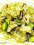 【花粉症レシピ】塩昆布と大葉のさっぱりごはん。