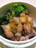 ◆ホタルイカとワカメの生姜ドレッシング◆すぐ出せる小鉢