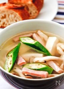 きのこと豆腐のあったかスープ