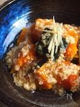 かぼちゃの豆腐そぼろあんかけ