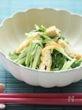水菜と油揚げの麺つゆ煮