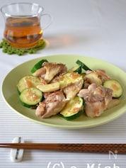 鶏肉とズッキーニの梅風味焼き