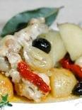 南仏風、鶏とにんにくのオリーブオイル煮