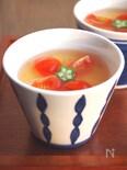 冷やし茶碗蒸し トマトあんかけ