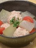 冬瓜と肉団子とトマトのスープ