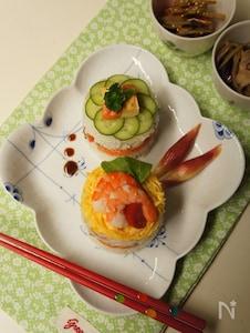 ケーキ風デコレーションちらし寿司