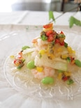 涼やか冬瓜と海老のエスニックサラダ