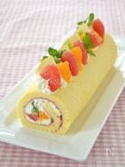 フルーツロールケーキ・ロールケーキ生地