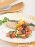 白身魚のグリル カラフルケッカソース