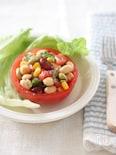 お豆のトマトカップサラダ