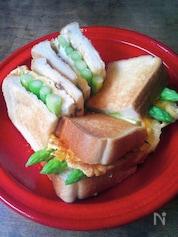 佐賀県産アスパラでつくるアスパラと玉子焼きのトーストサンド