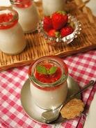苺ソースのパンナコッタ