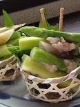 アスパラと茗荷の塩麹漬け