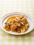 かぼちゃと鶏肉のドレッシング照り焼き