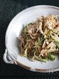 レンジ蒸し鶏ともやしと胡瓜のサラダ