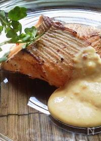 『お弁当に〜醤油麹で秋鮭のソテー豆乳チーズソース〜』