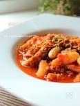 トリッパと白いんげん豆のトマト煮