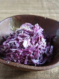 シャキシャキ紫キャベツと帆立のヨーグルトサラダ