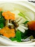 大根と小松菜入り湯豆腐