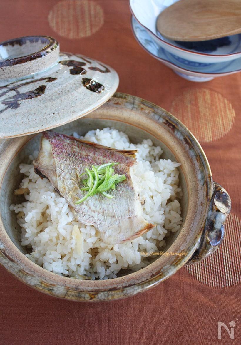 鯛めしは炊飯器で簡単に!基本のレシピ&おすすめ献立♪の画像