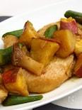 サツマイモと鶏の中華煮