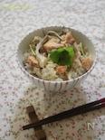 秋鮭と舞茸の炊き込みごはん