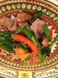 ニラと豚肉の醤油麹炒め
