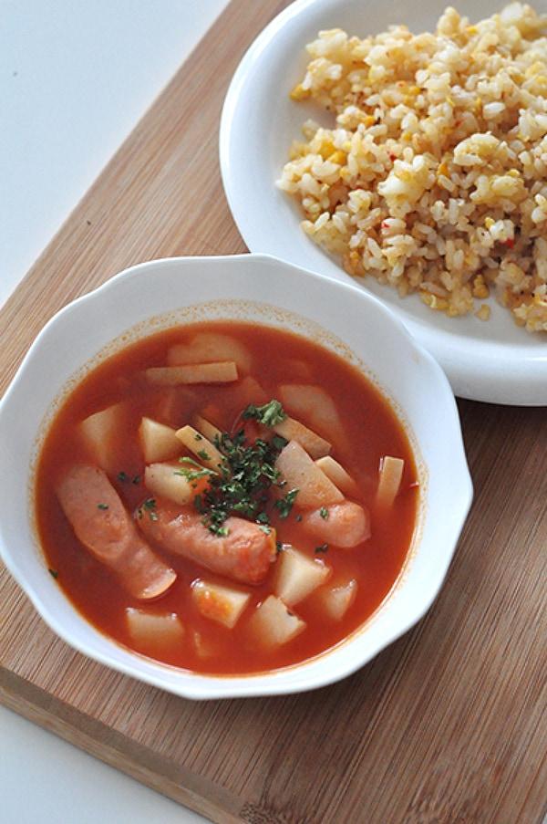 トマト ピューレ スープ