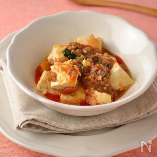 トマトソースの洋風麻婆豆腐