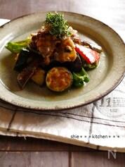 豚肉とお野菜の梅しそオリーブ和え