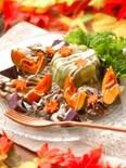 茄子のプレッセと秋模様のホットサラダ