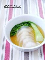 大根を皮に使用☆ヘルシー餃子スープ