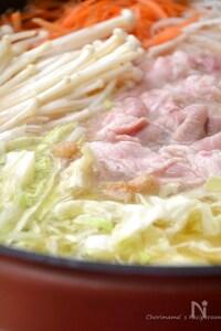 豚かつおだしのシャキシャキ鍋と濃厚リゾット