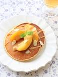 キャラメルりんごのパンケーキ