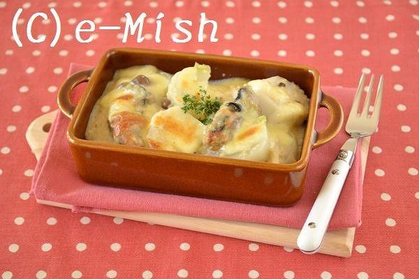 ぷりぷり牡蠣の豆乳グラタン