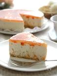 ハチミツとろり、彩りトマトのレアチーズケーキ