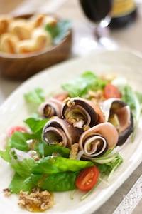 茄子と生ハムのクルクルサラダ