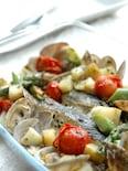 タラと彩り野菜のアクアパッツァ