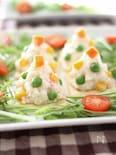 ポテトサラダのクリスマスツリーカナッペ