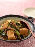 小松菜と厚揚げのオイスターソース炒め