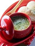 玉ねぎとチーズのスープ。