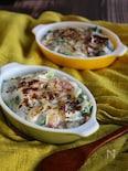 しゃきしゃき白菜とガーリックベーコンのグラタン