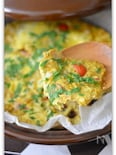 スパイシーキッシュ風卵の蒸し焼き