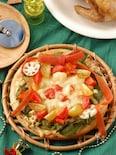 根菜とお豆のクリームクリスマスリースピザ