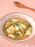 豆腐と水菜のとろとろ生姜あん