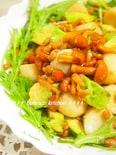 栄養満点!里芋とアボカドのナメコ納豆ドレサラダ