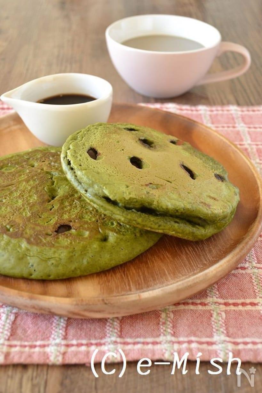米粉と抹茶のホットケーキ